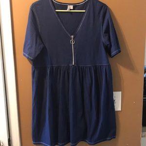 ASOS navy prairie dress
